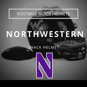Northwestern Football Snack Helmet Thumbnail