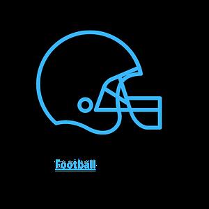 College Football Snack Helmet Icon