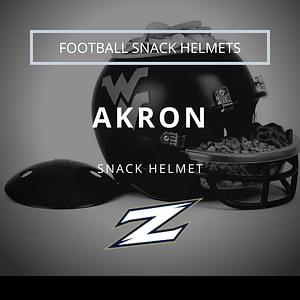 Akron Logo with Football Snack Helmet Thumbnail