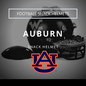 Auburn Tigers Logo with Football Snack Helmet Thumbnail
