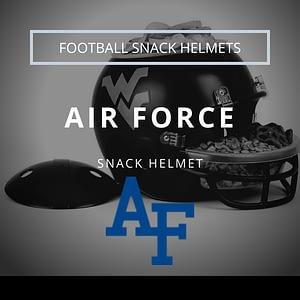 Air Force Falcons Logo with Football Snack Helmet Thumbnail